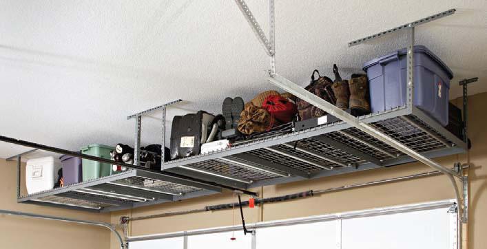 Garage shelving overhead storage solutions for york for High loft garage storage