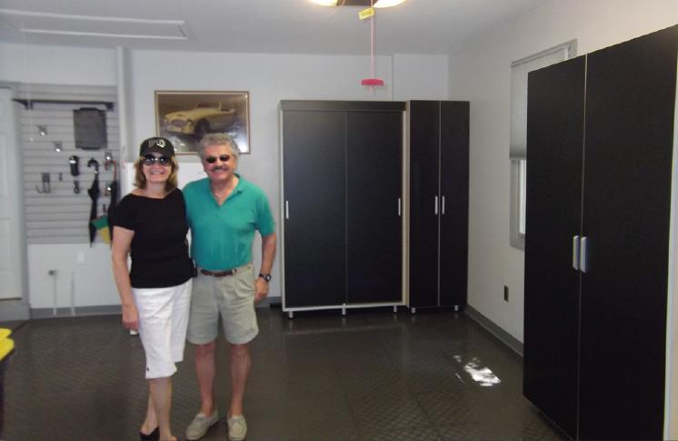 Pottsville PA Garage Cabinets Flooring
